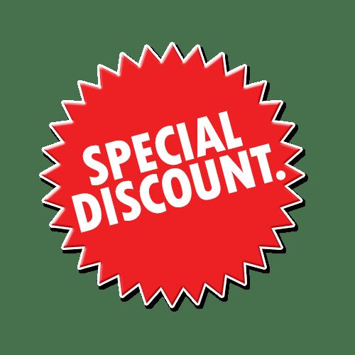 Special Discount Sign transparent PNG.
