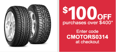 Discount Tire Direct on Ebay: Enjoy $100 Off Any Purchase Of $400.