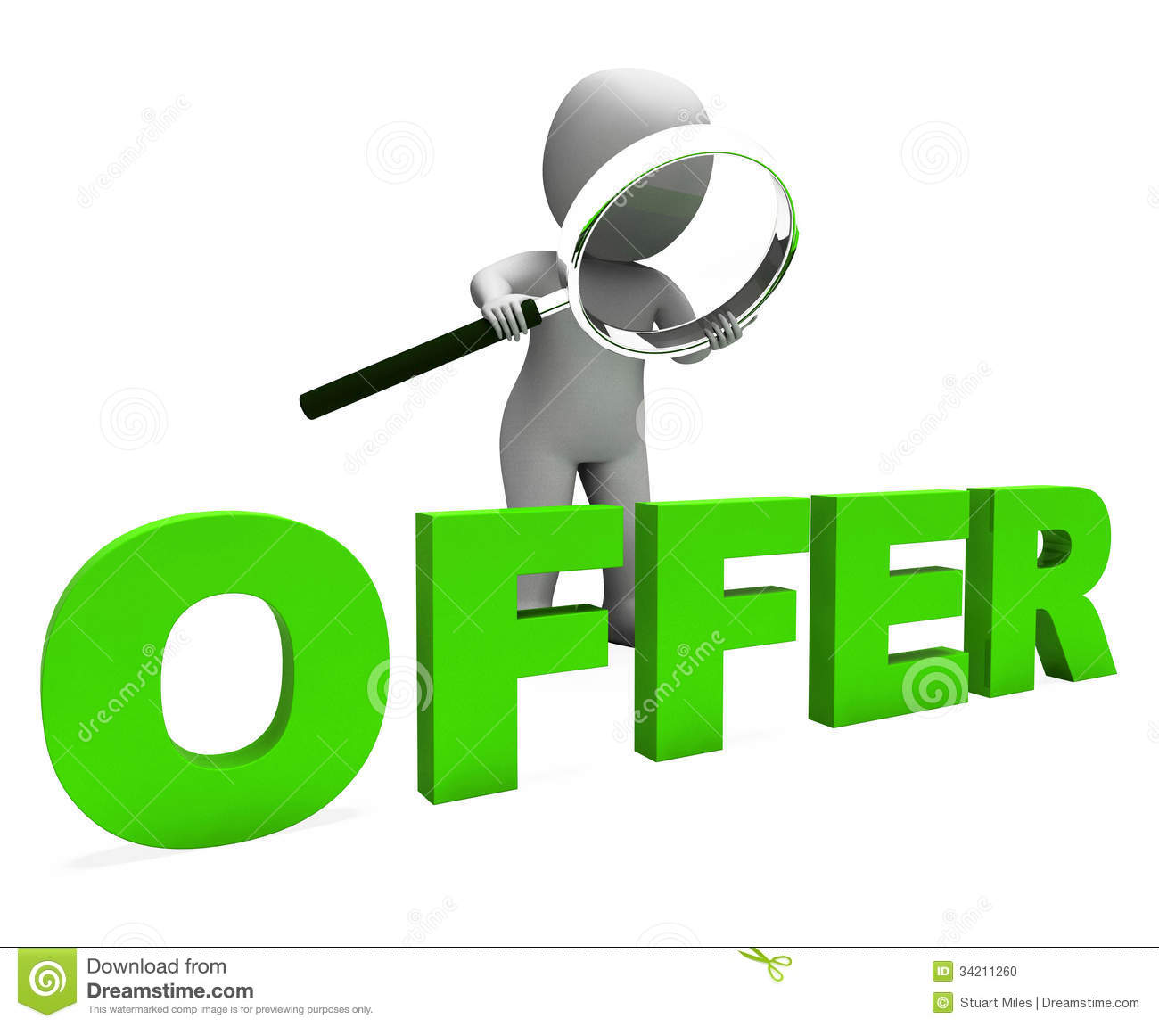 Discount Character Shows Sale Offer And Discounts Stock Images.