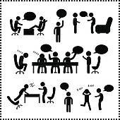 Clipart of Discreet conversation k11700783.