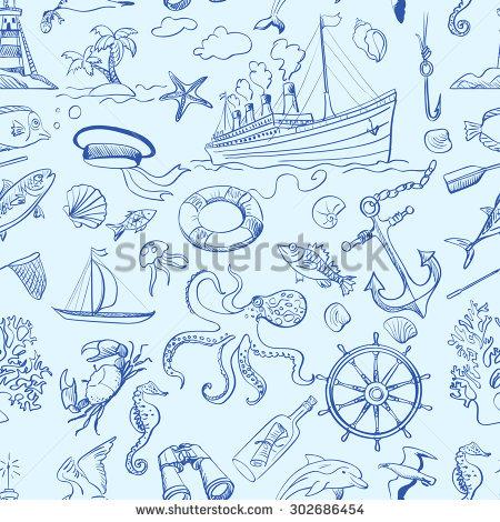 "marine Pattern"" Stock Photos, Royalty."