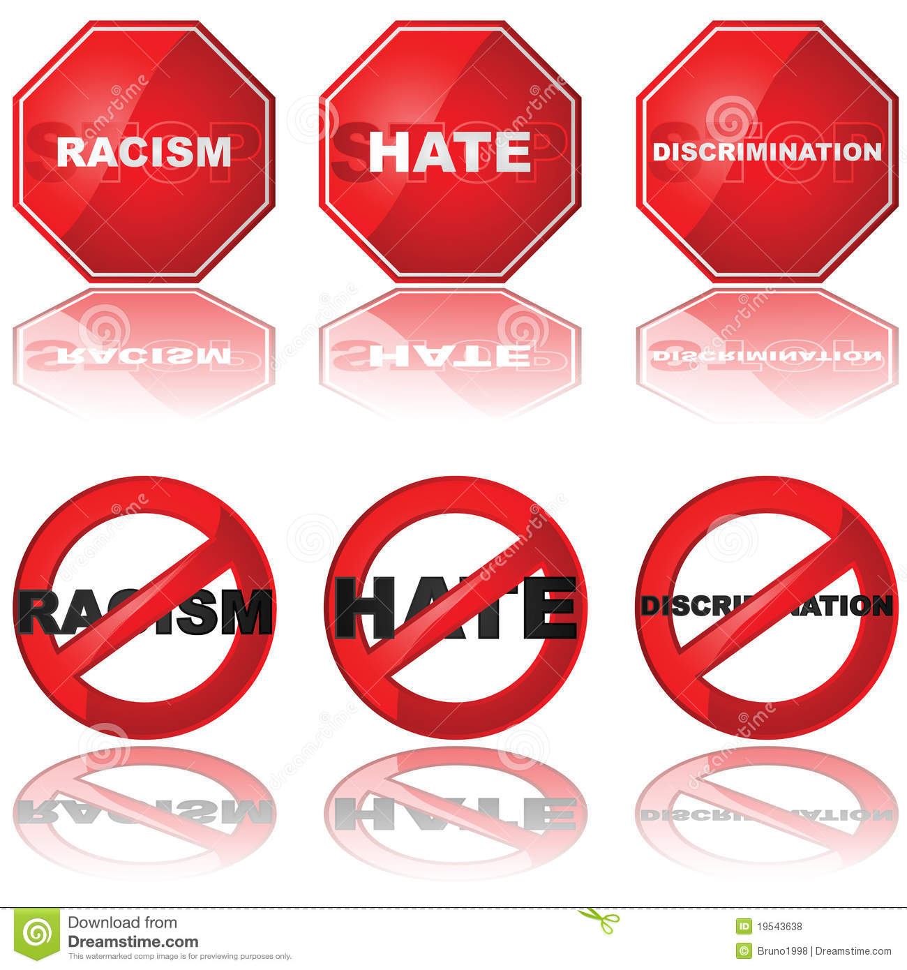 Discrimination Stock Illustrations.