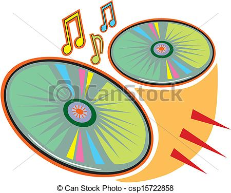 Clip Art Vector of CD or DVD discs csp15722861.