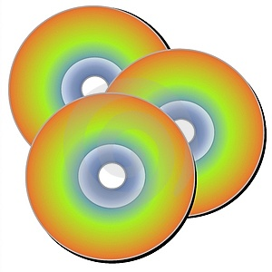 CD Discs Clip Art Royalty Free Stock Photography.
