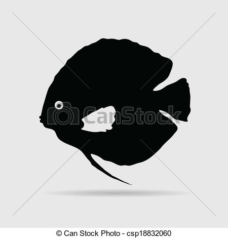Clip Art Vector of discus fish vector illustration csp18832060.