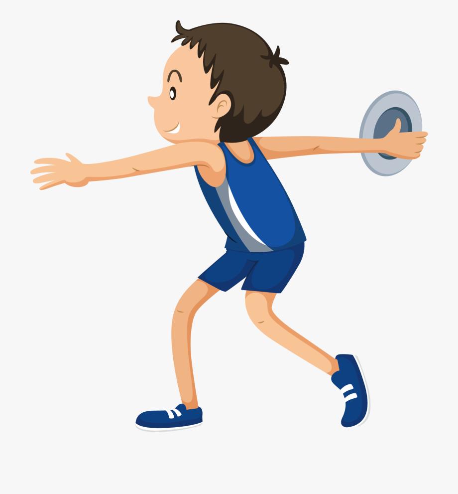 Discus Throw Athlete Sport Clip Art.