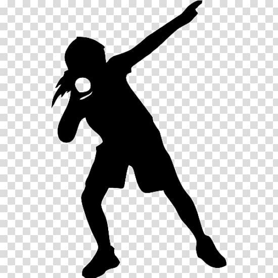 Person silhouette , Shot put Track & Field Sport Discus.