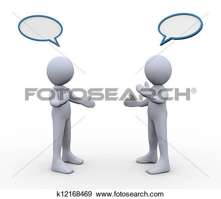 Stock Illustration of Businessmen talking to each other u26632588.