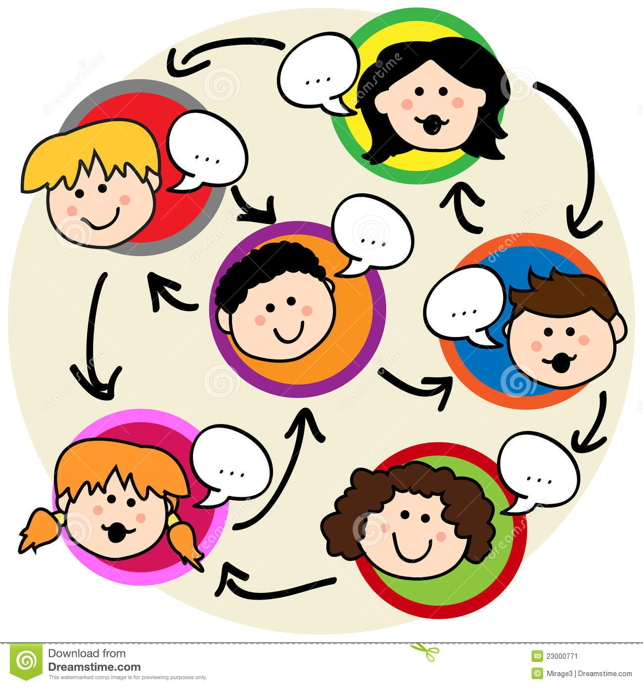 Classroom discussion clipart.
