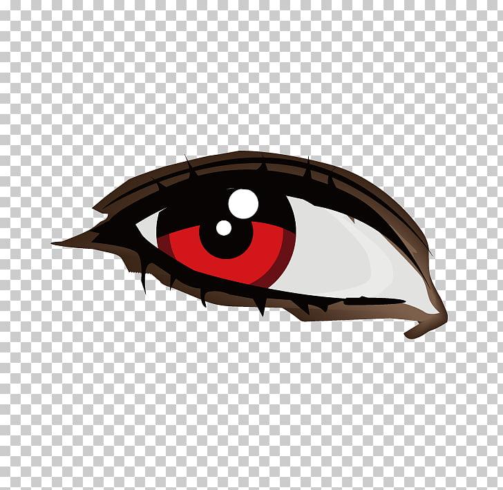 Human eye Euclidean Illustration, Red pupil,Fly disdain.