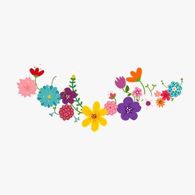 Floral Wreath, Color Flowers, Wreath, Flower Series PNG.