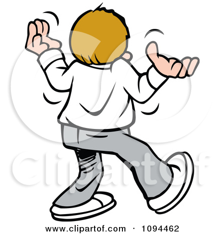 Clipart Disgruntled Teenager Giving Up Walking Away And Shrugging.