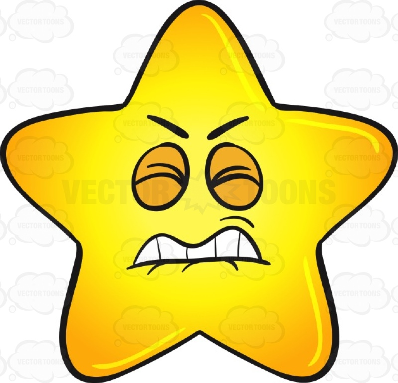 1344 Gold Star free clipart.