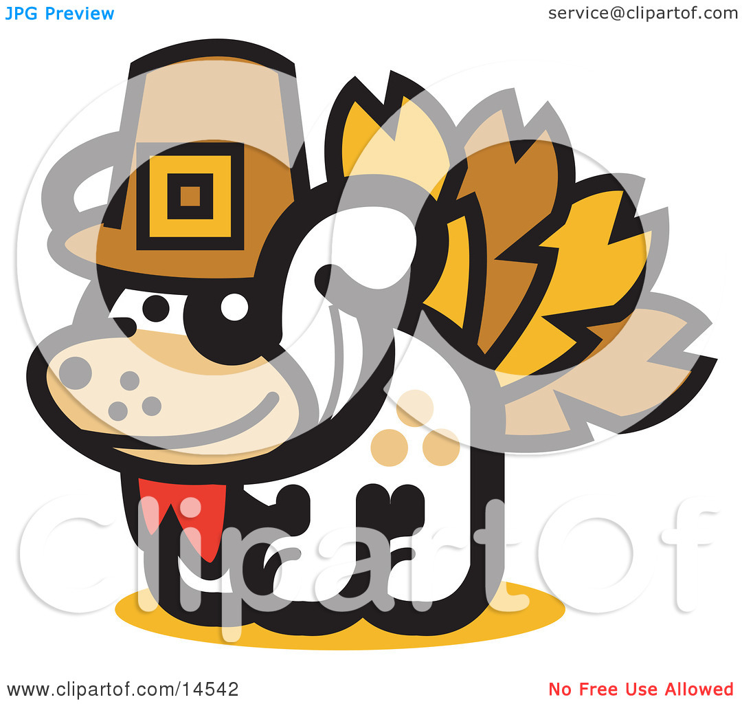 Dog Disguised as a Thanksgiving Turkey Clipart Illustration by.