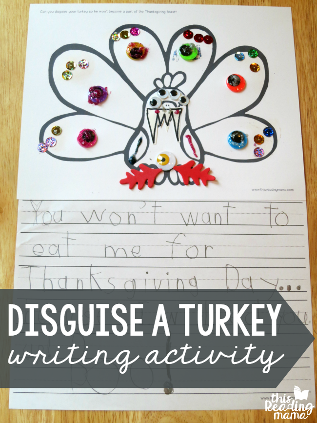 Disguise a Turkey Writing Activity.