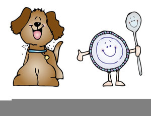 Dish And Spoon Clipart.