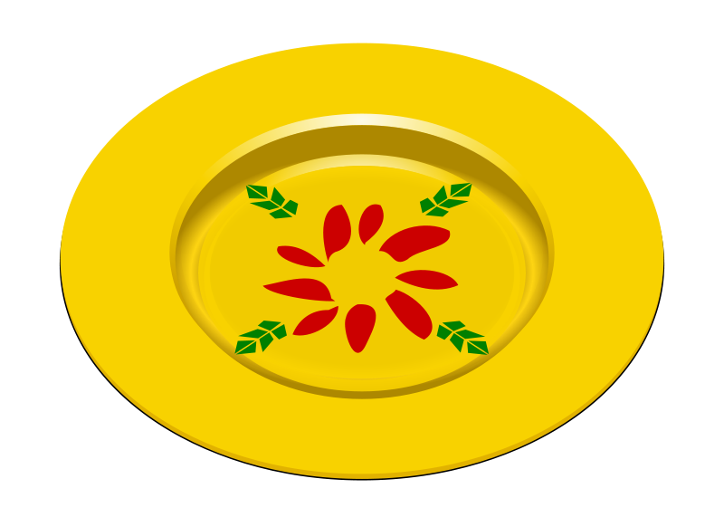 Free Clipart: Party Dish 2.