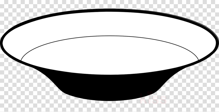 Dish Black And White Clipart Tableware Bowl Clip Art.
