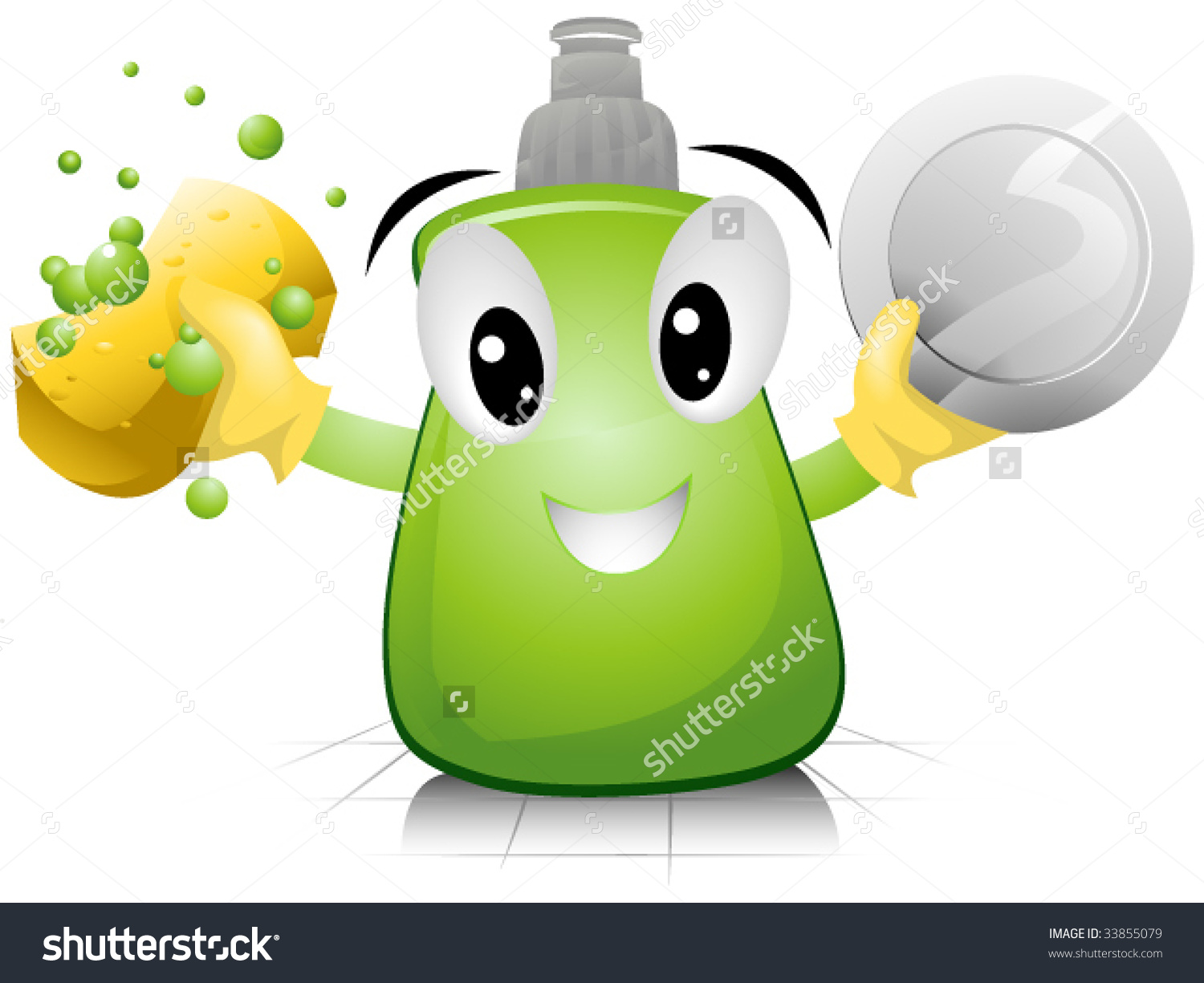 Dishwashing Liquid Vector Stock Vector 33855079.
