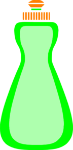 Dishwashing liquid clipart.