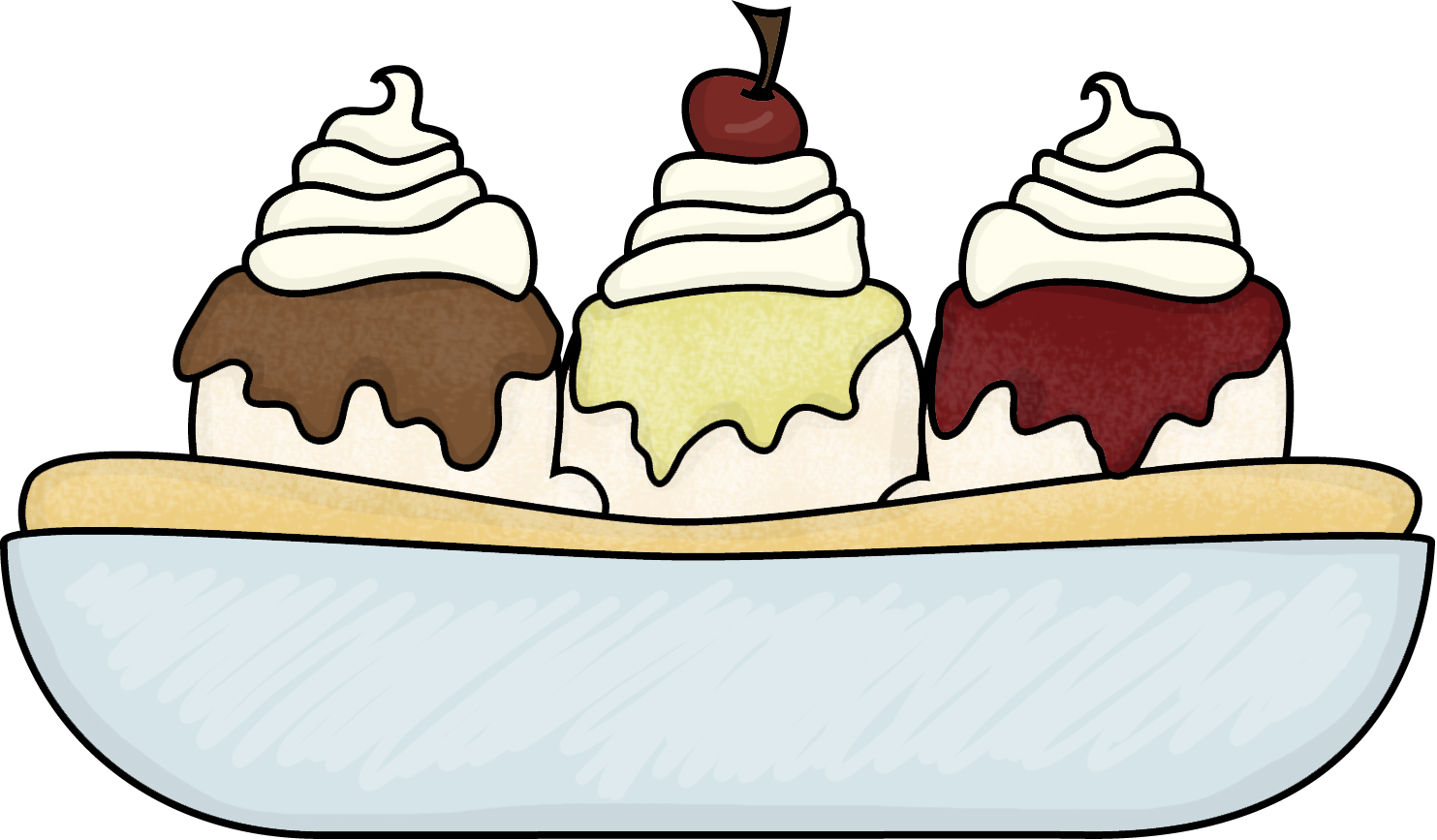 Ice Cream Bowl Clipart.