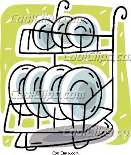plate rack Clip Art.