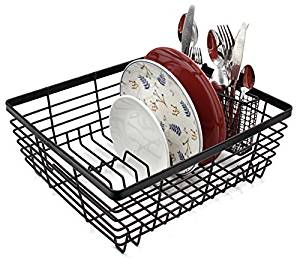 ESYLIFE Kitchen Dish Drainer Drying Rack with Full.