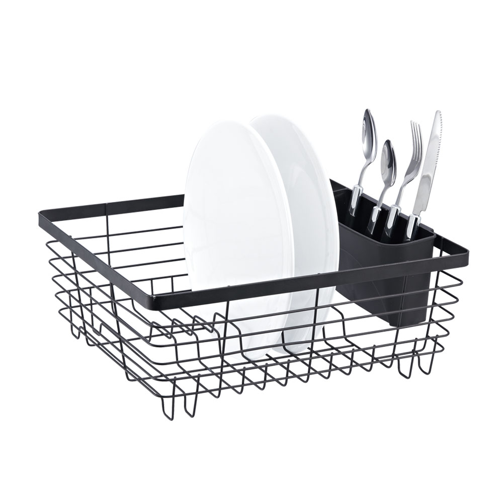 Stylish Sturdy Oil Rubbed Bronze Metal Wire Small Dish Drainer Drying Rack.