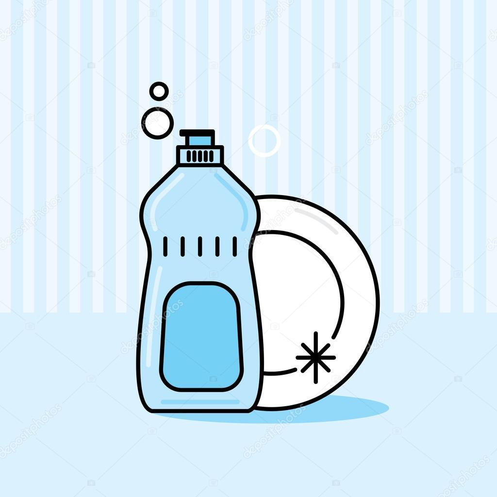 Clipart: dish soap.
