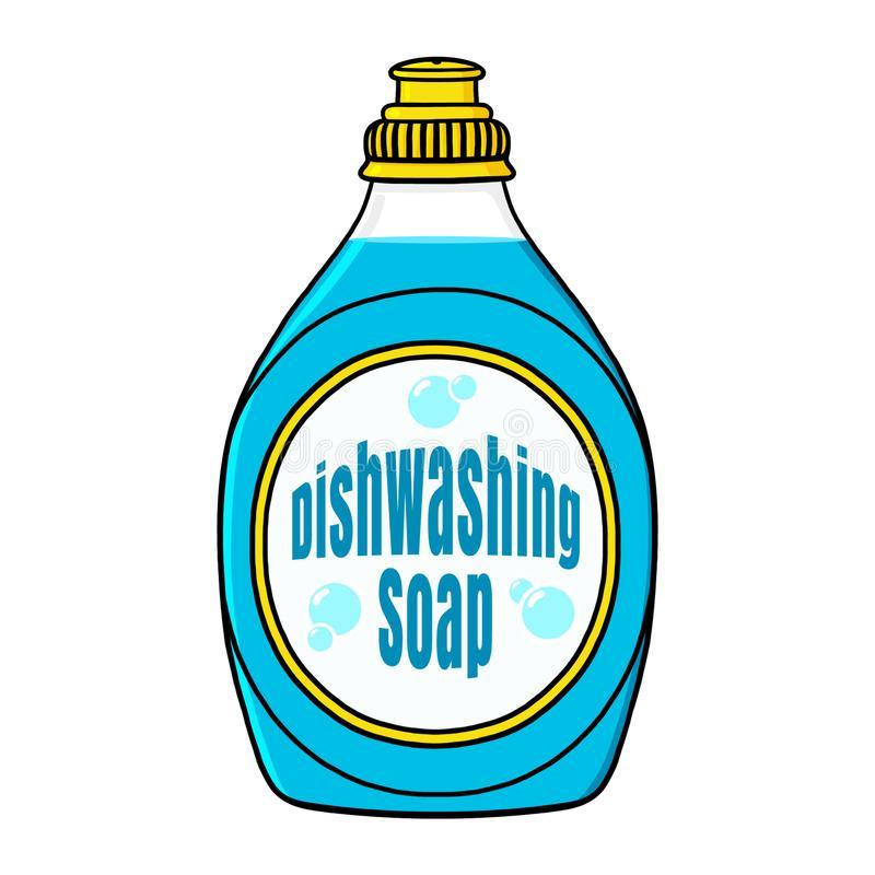 Dish Washing Stock Illustrations.