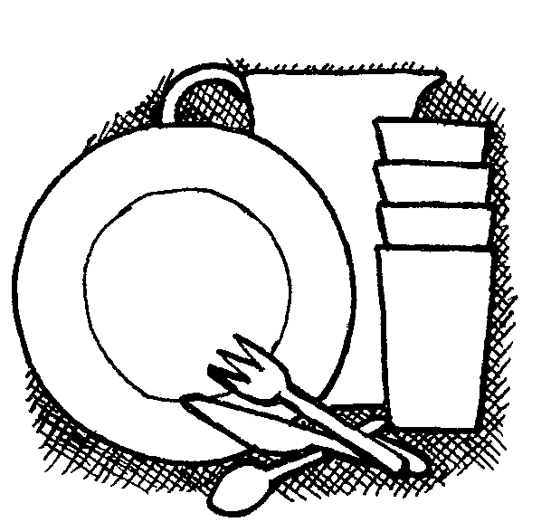 Dishes Clip Art.