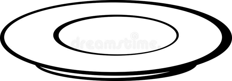 Dishes clipart black and white 6 » Clipart Station.