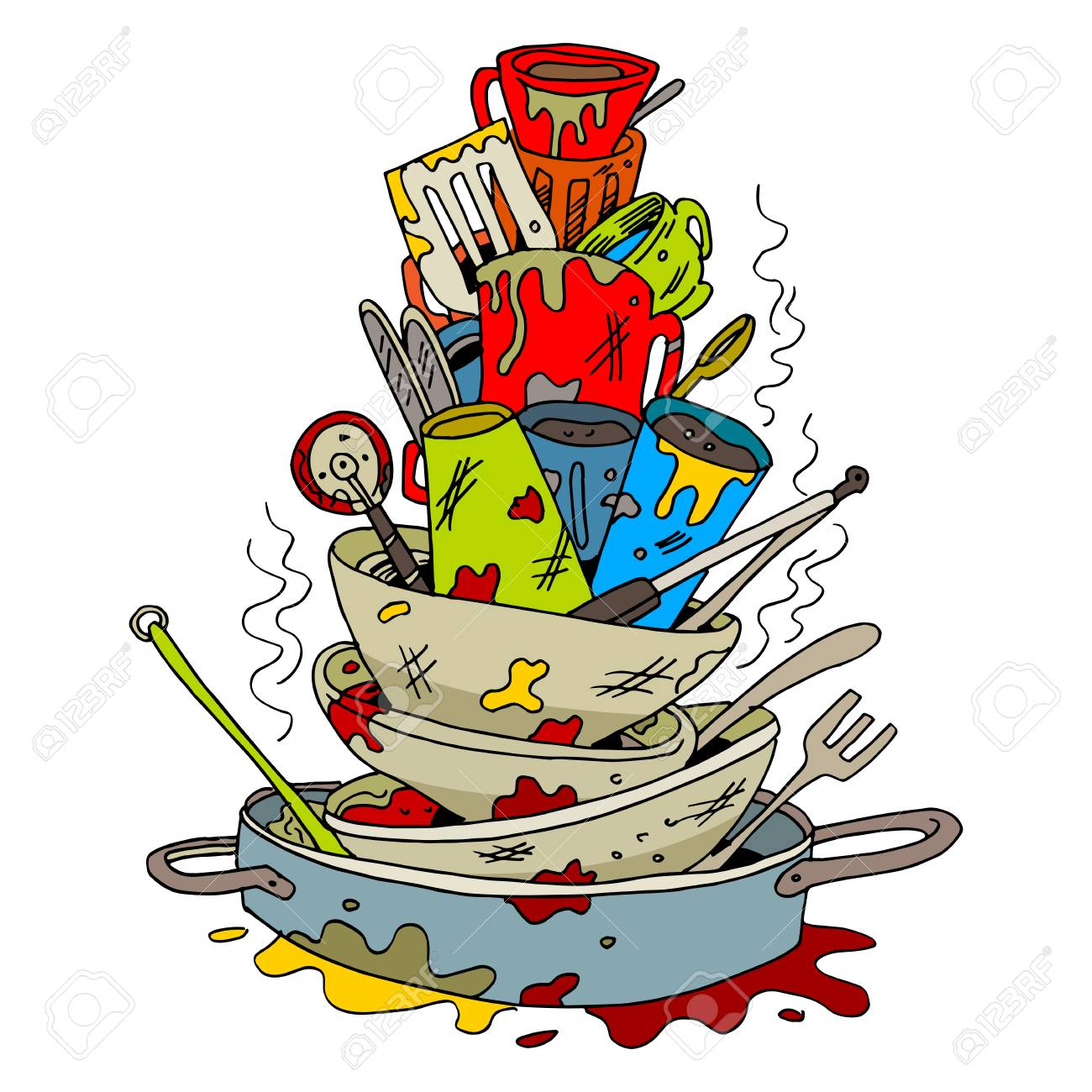 Dirty Dishes Clipart Free Download Clip Art.