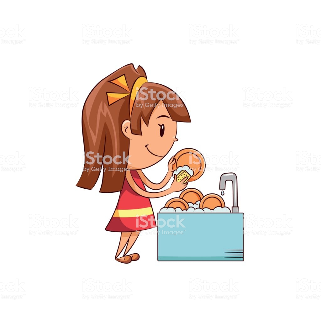 Girl washing dishes clipart 1 » Clipart Station.
