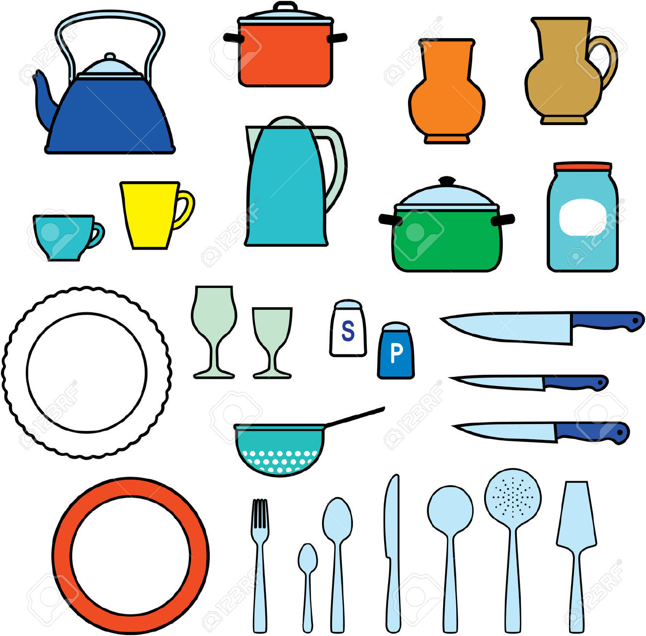 Kitchen Utensils, Kitchenware.