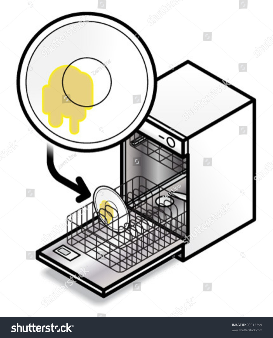 Download put dishes in dishwasher clipart Tableware Dishwasher Clip.