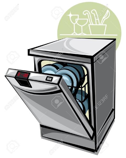 Dishwasher Clipart.