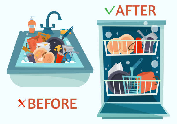 Best Dishwasher Illustrations, Royalty.