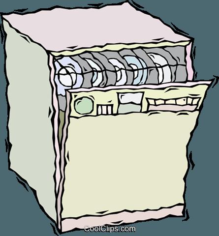 dishwasher Royalty Free Vector Clip Art illustration.