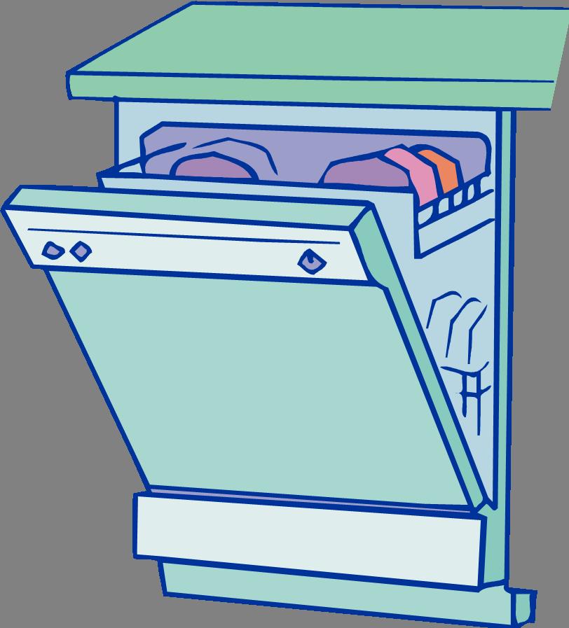 Dishwasher Cartoon Clipart Clipart Suggest.
