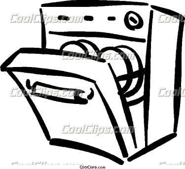 Clip Art Unload Dishwasher Clipart.