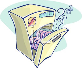 Dishwasher Cartoon Clipart.