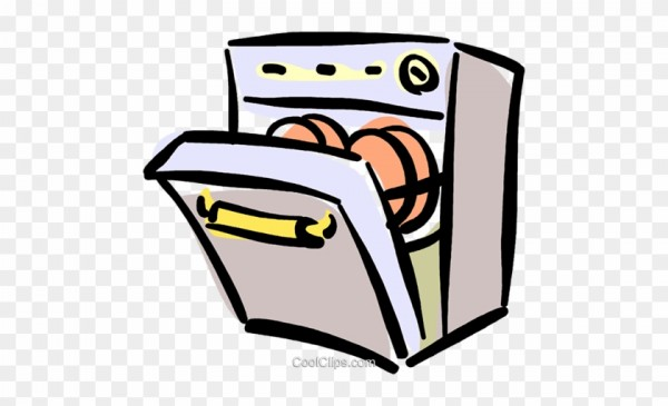 Geschirrspuler Clipart Dishwasher Clipart Black And White.