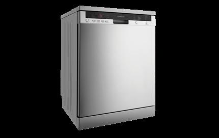 Stainless steel freestanding dishwasher (WSF6608X).