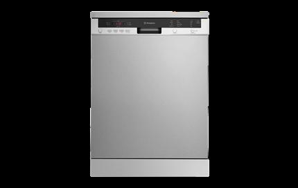Stainless steel freestanding dishwasher (WSF6606X).
