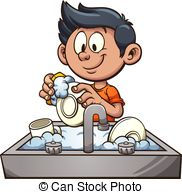 Washing dishes Stock Illustrations. 5,003 Washing dishes clip art.