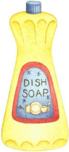 Dish soap clipart.