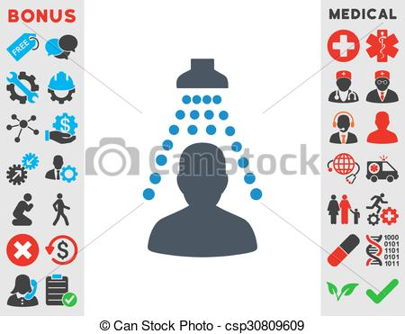 Vector Clipart of Patient Disinfection Icon.