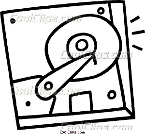 hard disk drive Vector Clip art.