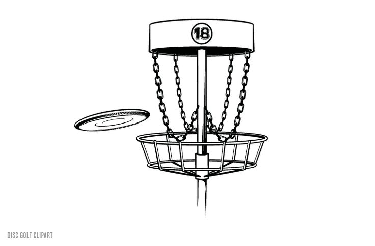 Disc Golf Clip Art.